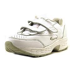 Spira Women's Classic EZ Strap Walking Shoe,White,11 M US