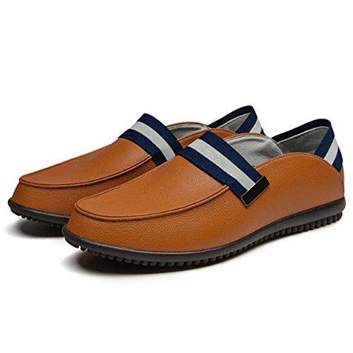 de de Casuales Primavera de Zapatos Zapatos de Amarillo Hombres Cuero Deslizamiento los Antideslizantes 5atF0nq0