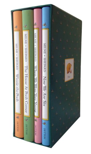 Pooh's Library: Winnie-The-Pooh, The House At Pooh Corner, When We Were Very Young, Now We Are Six (Pooh Original Edition)