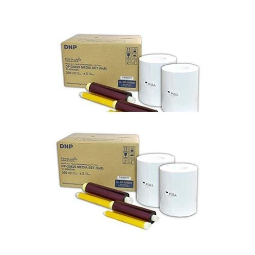 DNP 2x 6x8'' Dye Sub Media for DS620A Printer, 400 Prints Per Roll, 2 Piece