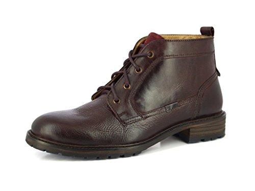 Alberto Torresi Heren Durbey Bordo Lace Up Causale Laarzen- Geniune Lederen Klassieke Ankel Boots Brodo Cremisi