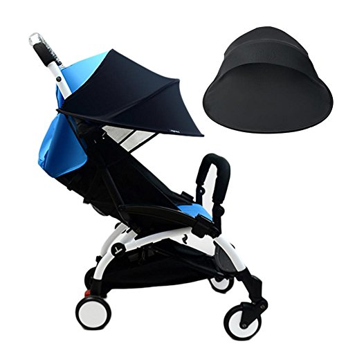 (anne210 Adjustable Stroller Cover Windproof Rainproof Sun Protection Baby Anti-UV Cloth Rayshade Umbrella Awning Shelter Universal kit)