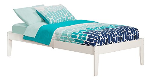 Atlantic Furniture AR8021002 Concord Platform Bed with Open Foot Board, Twin, White