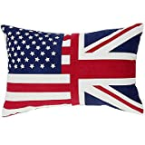 Country Flag of US Cotton Decorative Pillow Cover
