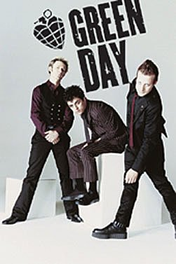 Green Day Group - Green Day American Idiot Poster White