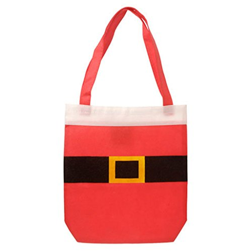 3 Santa Claus Suit Tote Bag Christmas Gift Bags Holiday