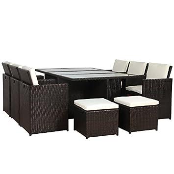 Rattan lounge braun  Amazon.de: SVITA Poly Rattan Lounge Gartenset Braun Garnitur ...