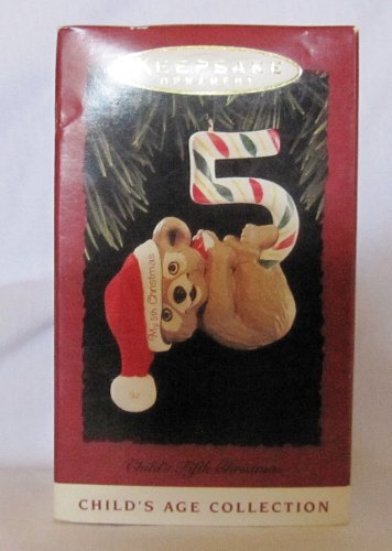 Hallmark Childs Fifth Christmas Ornament (Hallmark Child's Fifth Christmas Keepsake Ornament Dated 1994 QX5733)
