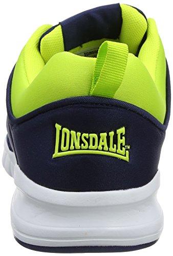 Lonsdale Men's Sivas Fitness Shoes Blue (Navy/Volt/Navy) NN7tXJFEy