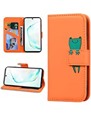 Miagon Animal Flip Case for iPhone 6S / 6,Wallet PU Leather TPU Cover Design with Stand Magnetic Card Slots Shockproof Folio Gel Bumper,Orange