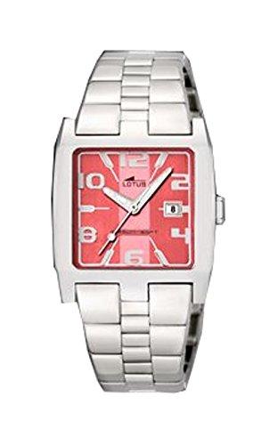 Reloj Lotus de señora acero esfera rosa 30 mm. W.R. 50 m: Amazon.es: Relojes