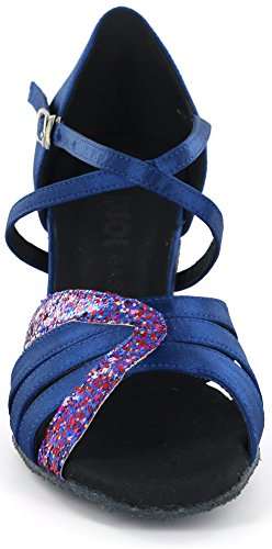 DSOL Womens Latin Dance Shoes D1668 Blue Q12FyIsl