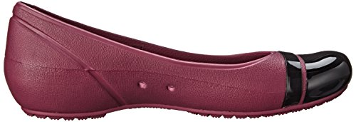 mujer Crocs Flat material Zuecos Toe Cap sintético Plum de Black rEnrq0Sx