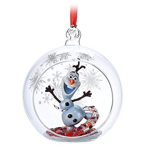 Disney Store Sketchbook Collection 2019 Frozen 2 Olaf Glass Ornament (Tree Olaf Christmas)