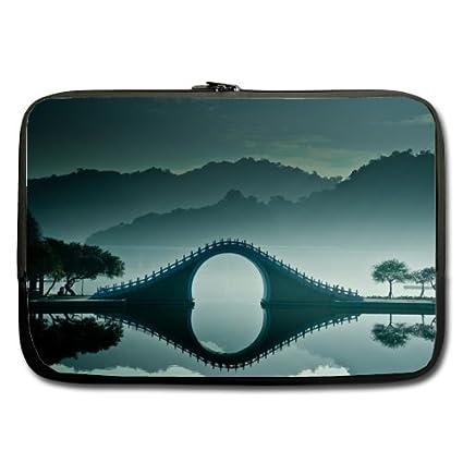 fe5ca1d346 Amazon.com  Bridge Greenery River Scenery Best Price 17 Inch Laptop ...