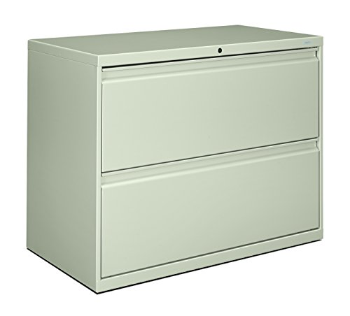 - HON 882LQ 800 Series 36-Inch by 19-1/4-Inch 2-Drawer Lateral File, Light Gray