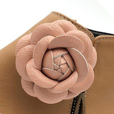 Stivaletti GLL Stivali caviglia amp;xuezi Da Serata e festa pelle Autunno Basso Floreale Inverno Tessuto alla Nero Finta donna almond almond Formale Stivaletti 0rfX0xn