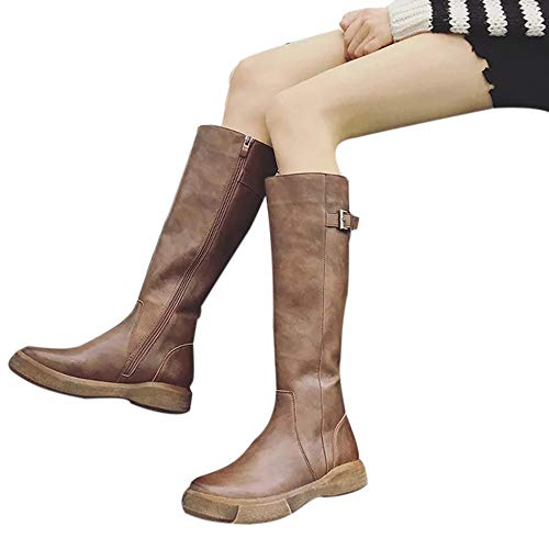 - Women Long Boots Cinsanong Autumn Winter Flat Bottom Boots Over The Knee Thigh Boots Shoes
