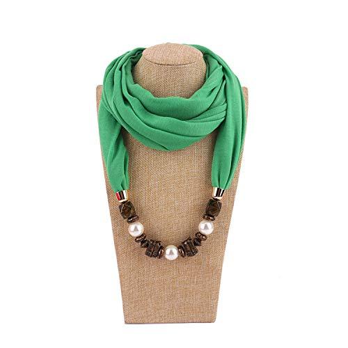 - Joyhul Imitation Pearls Pendants Necklaces Blue Polyester Vintage Resin Scarf Shawl Choker Necklace Women Naszyjnik Collane