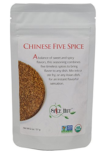 The Spice Hut Organic Chinese Five Spice Blend (5 Spice) Seasoning, for Asian Cuisine & Stir Fry, 2 oz - Chinese Five Spice Seasoning