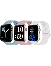 VATI Sport Band Compatible for Apple Watch Band 38mm 40mm 42mm 44mm, Soft Silicone Sport Strap Replacement Bands Compatible with iWatch 5/4/3/2/1, Sport, Nike+, Edition