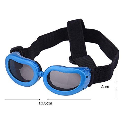 UNAKIM--Portable Small Dog Sunglasses Goggles UV Sun Glasses Glasses Eye Wear Protection - Sunglasses Bbc
