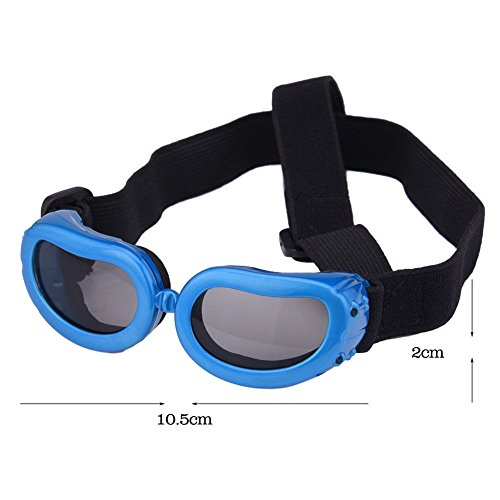 UNAKIM--Portable Small Dog Sunglasses Goggles UV Sun Glasses Glasses Eye Wear Protection - Raymond Sunglass