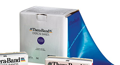 Thera-Band Resistive Exerciser 50 yard roll, Black, 50 yards by TheraBand