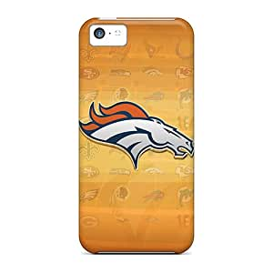 Protective Cell-phone Hard Covers For Iphone 5c With Allow Personal Design Trendy Denver Broncos Series DrawsBriscoe