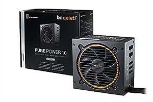be quiet! Pure Power 10 600W CM 600W - Fuente de alimentación (600 W, 100 - 240 V, 50 - 60 Hz, Activo, 140 W, 576 W)