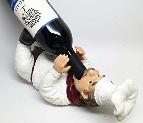 CHEF CHARDONNAY DRUNKEN FRENCH BISTRO KITCHEN WINE BOTTLE HOLDER FIGURINE by ATL ()