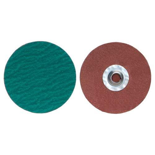3''x1/4'' Zirc Plus R801 Cloth Quick Change Disc Type TS/II 120 Grit Zirconia Alumina (Pack of 50)