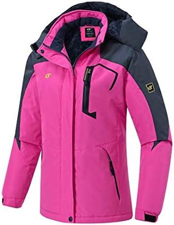 Pdbokew Women's Skiing Snowboarding Jackets Fleece Hood Mountain Snow Coat
