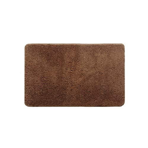 Bath Mat Microfiber Bathroom Rug Soft Non Slip Machine Washable Rugs for Bathroom 20x32 Dark Brown Bath Rugs