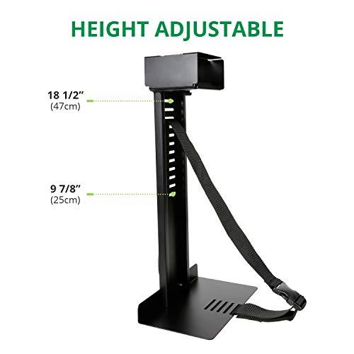 Eureka Ergonomic Computer Cart Height-Adjustable Mobile CPU Stand Suitable for Standing Desk Converters Black by Eureka Ergonomic (Image #3)