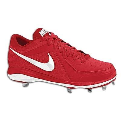 New Nike Air MVP Pro Metal 524641 Mens 10 Baseball Red/Wht cleats.
