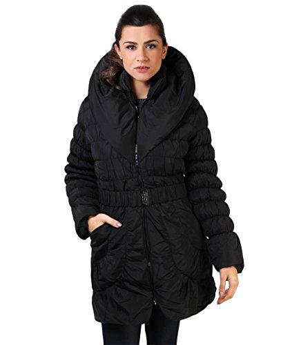 KRISP Abrigo Mujer Invierno Tallas Grandes Acolchado Elegantes Largos Negro