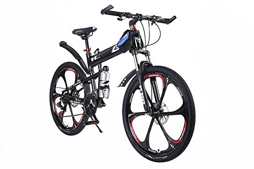OPATER Mountain Bike 26″ 24 Speed Mountain Bikes Aluminum Bicycle One Size with Disc Brakes for Men Women, Red/Black