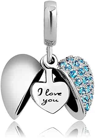 ebf639f08 CharmSStory Heart I Love You Birthday Gifts Charms Bead for Charms Bracelet  & Necklaces