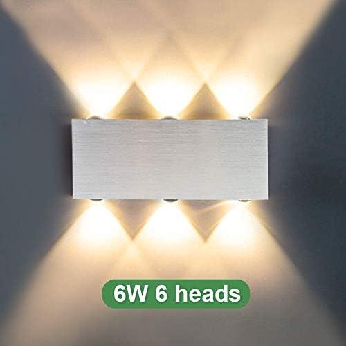 Lámpara de pared Aplique moderno Escalera de pared Aplique de pared Dormitorio Sala de estar Mesita de noche Iluminación interior Pasillo Plata, 6W 6 cabezas, púrpura: Amazon.es: Iluminación