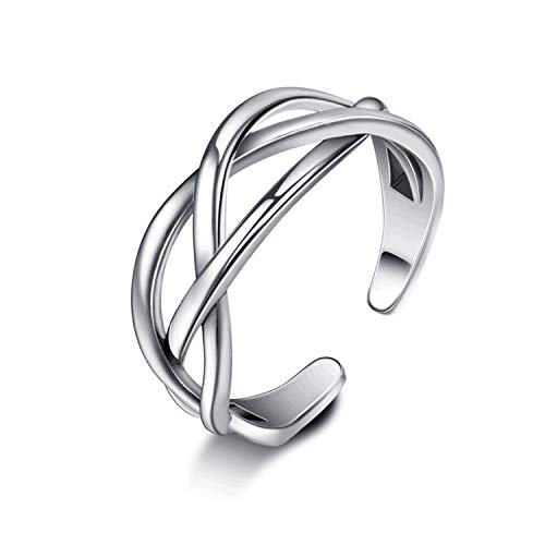 SNORSO Women's S925 Sterling Silver Thumb Ring Celtic Knot Adjustable Open...