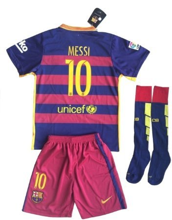 4da5b1702 Barcelona Messi  10 Soccer Jersey Set   Socks Kids Youths 11-13 Years Old