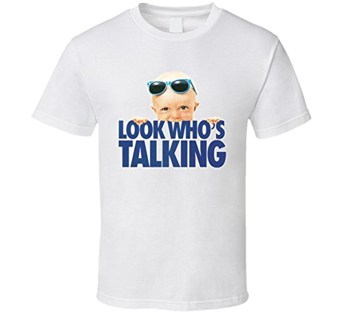 Look Who's Talking Retro Movie T Shirt L White