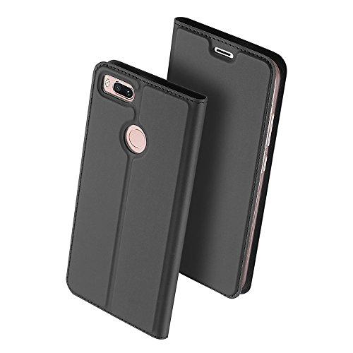 Xiaomi Mi A1 Funda, OFU® aspecto delgado caso,PU cuero cartera caso de visualización,cierre magnético,TPU parachoques - Xiaomi Mi A1 cuero flip cartera-negro negro