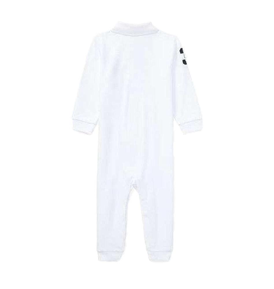 e69e46a57 Amazon.com  RALPH LAUREN Baby Boys L S Mesh Polo Coverall (White