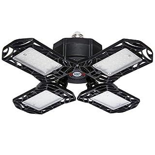 LED Garage Light, 120W Super Bright Deformable LED Garage Lights, 12000 Lumen E26 High Bay Garage Lights Ceiling LED Bulbs with 4 Adjustable Leaf