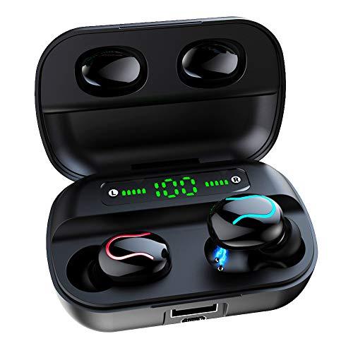 Luisport IPX5 Waterproof Wireless Headphones Earphones,Wireless Earbuds Cordless Headphones Gym Headphone (Color-Black)