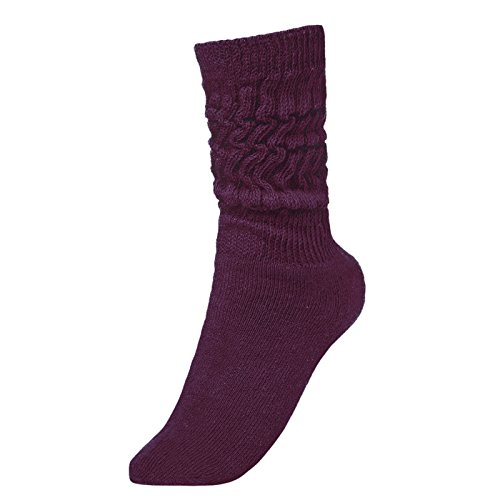 BRUBAKER Womens Or Mens Fitness Workout Slouch Socks Gym Purple EU39-42 / US6.5-10