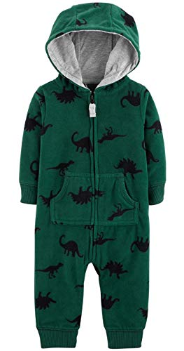 Carter's Baby Boys' One Piece Fleece Jumpsuit Dino, 6 Months