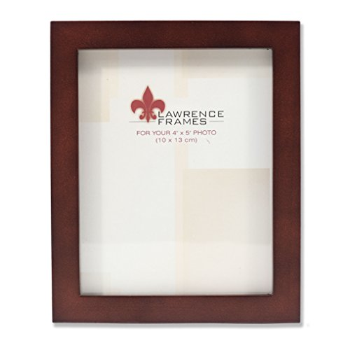 Lawrence Frames 755945 Espresso Wood Picture Frame, 4 by 5-Inch by Lawrence Frames